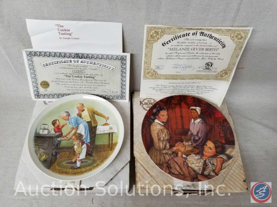 """Knowles collector plate """"The Cookie Tasting"""" #8589C with box and certificate of authenticity,"""
