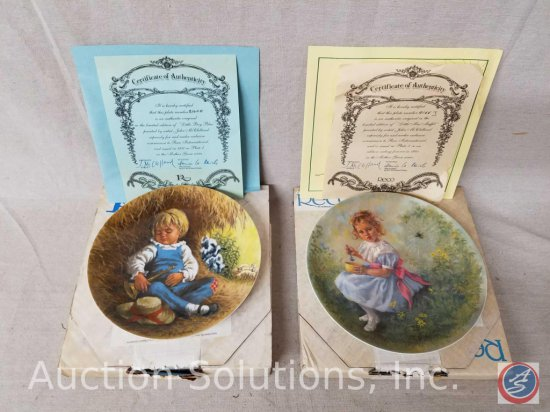 "Reco collector plate ""Little Boy Blue"" #2160M with box and certificate of authenticity, Reco"
