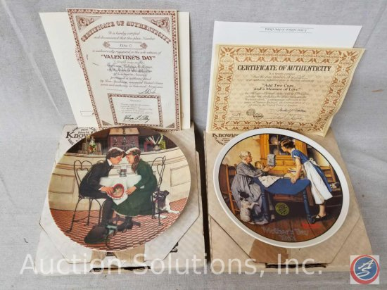 """Knowles collector plate """"Valentines Day"""" #8236D with box and certificate of authenticity, Knowles"""