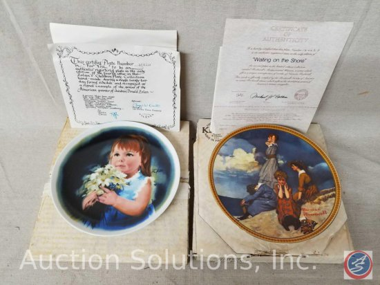"Viletta collector plate ""For You"" #3093H with box and certificate of authenticity, Knowles collector"