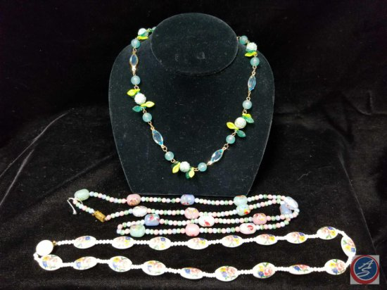 (3) beaded necklaces