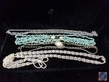(4) multi strand necklaces
