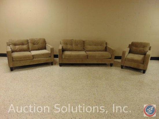 Sofa 78 x 36 x 31 in.; Loveseat 56 x 36 x 31 in.; Chair 32 x 36 x 31 in. {SOLD 3x TIMES THE MONEY}