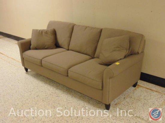 Max Home Beige Overstuffed Upholstered Couch 83 x 35 x 37 in.