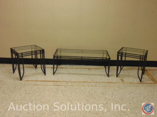 [3] pc. Living Room Table Set: Coffee Table 44 x 22 x 16.5 in.; [2] End Tables 21.5 x 18 x 21.5 in.