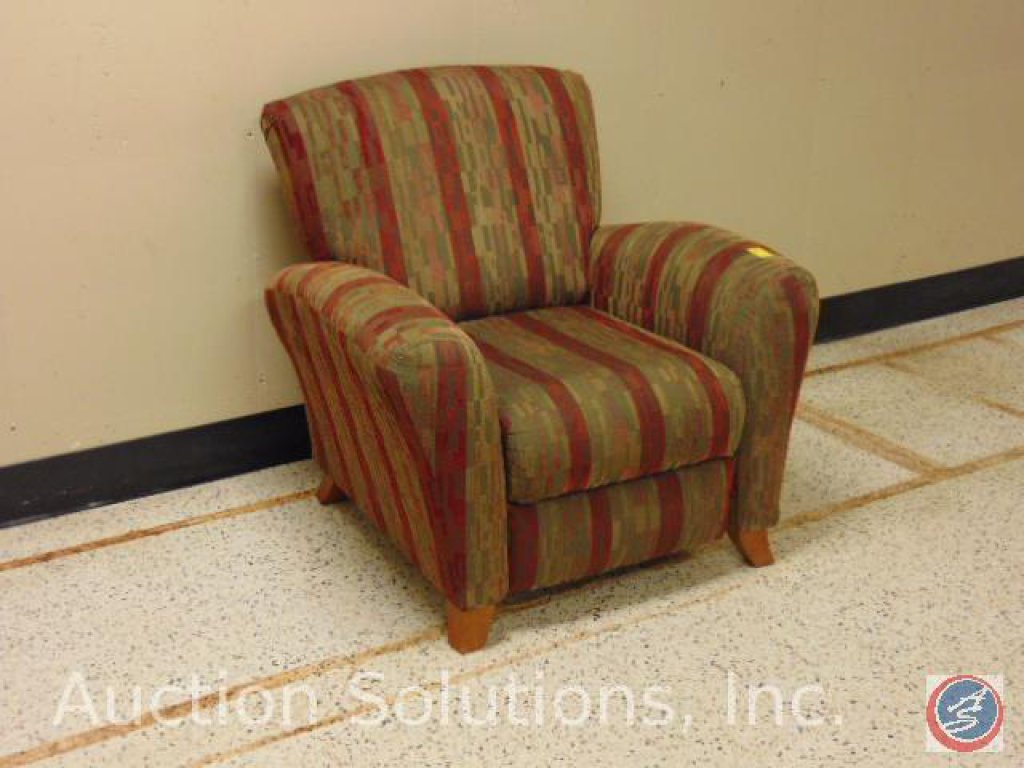 Striped Upholstered Recliner