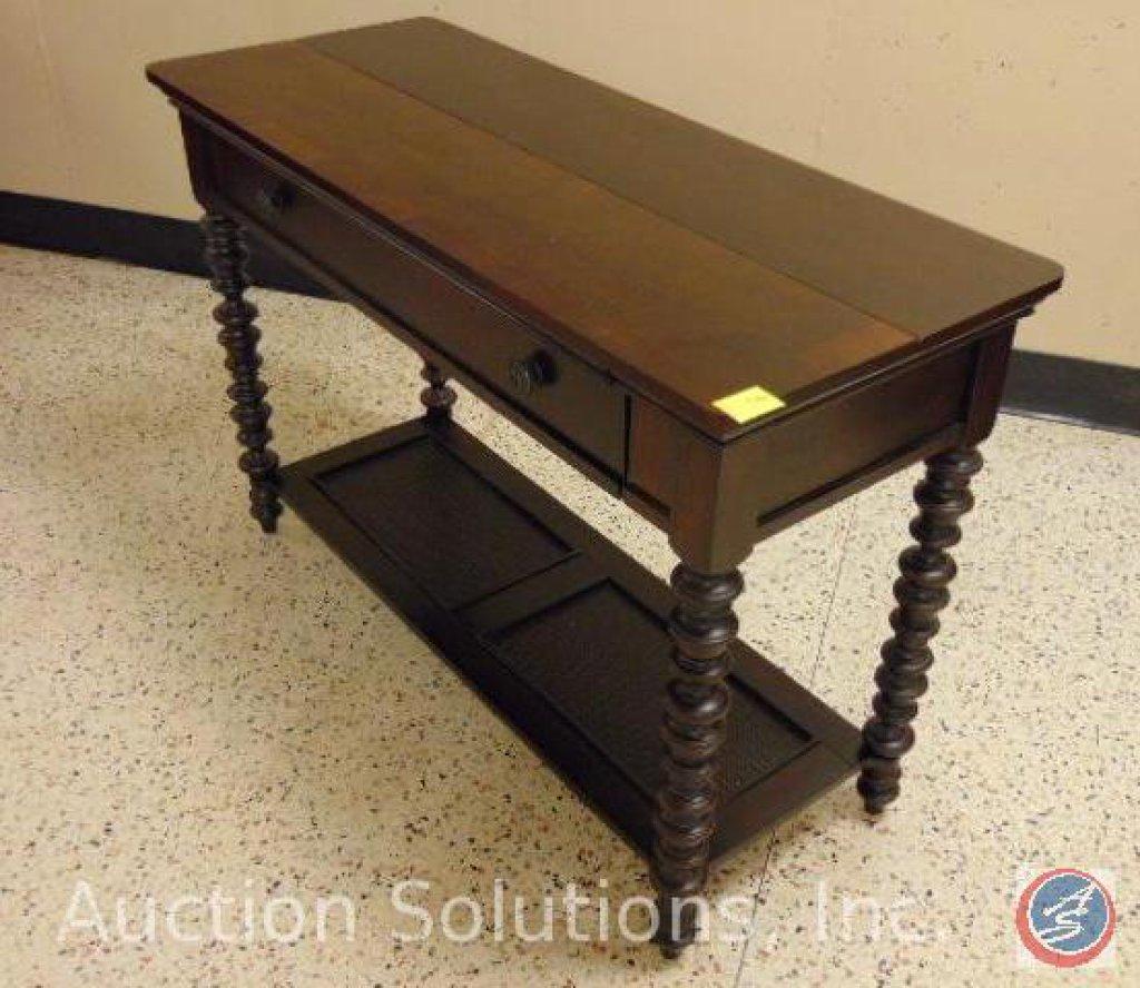 2-Drawer Wooden Secretary / Sofa Table w/ Lower Shelf 48.75 x 19.75 in.