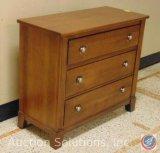 Small 3-Drawer Wood Dresser 40 x 18 x 34.75 in.