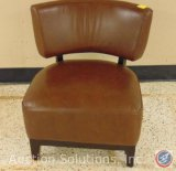 Jason Furniture Small Brown Leather Side Chair