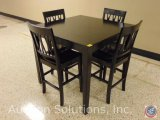 Square Wood Dining Table w/ [4] Chairs 42 x 42 x 37.5 in.
