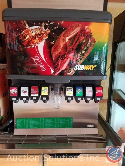 Cornelius (8) tap Coke machine, Model #ED250-BCZ with carbonater Item #41568