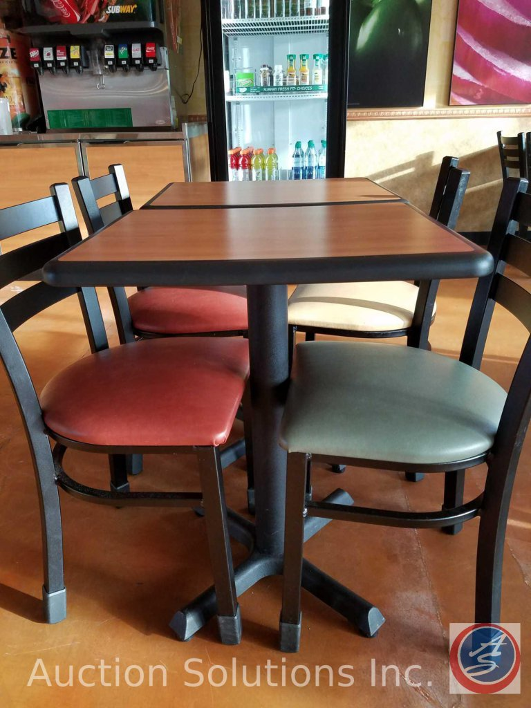 (2) Rectangle single pedestal table measuring 24X20X32 ((SOLD TIMES THE MONEY))