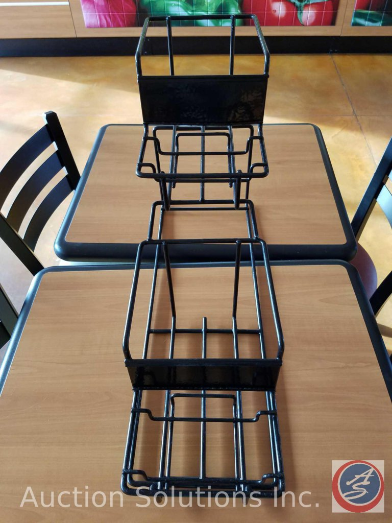 Wire coffee rack with (4) tiers
