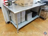 SS prep table with undershelf measuring 5 ft X 30 X 34