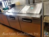 AdvantEdge two door cooler/prep table with cutting board. Model #SMP60-24-12090007. Measures 60.5 X