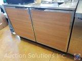 Duke brown (2) door cabinet measuring 4 ft X 3 ft X 29.5