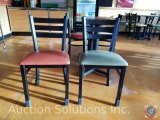 (4) metal upholstered chairs ((SOLD TIMES THE MONEY))