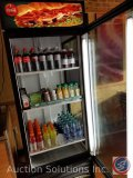 True Manufacturing Co cooler with (3) wire shelves Model #GEM-26. Measures 79 X 30 X 30