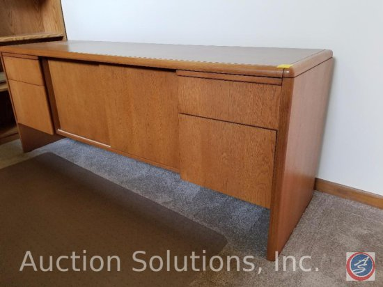 "Anderson Fine Office Furniture Wood Credenza 6' x 21"" x 28.5"""