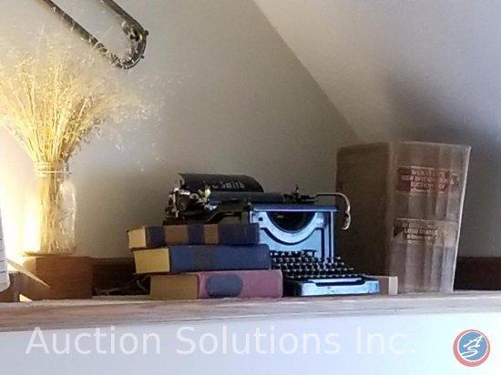 Antique Manual Typewriter and Vintage Hardcover Books