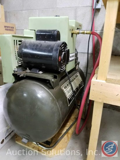 Sears Model 106.175781 2-Cylinder 125 PSI Air Compressor w/ Leeson?2 HP Motor [Model M6C34D88B] and