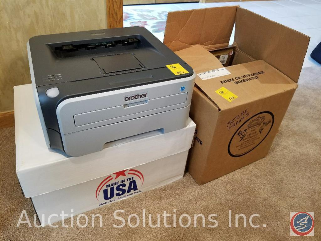 Brother Printer Model #HL-2170W, Box of Picture Frames