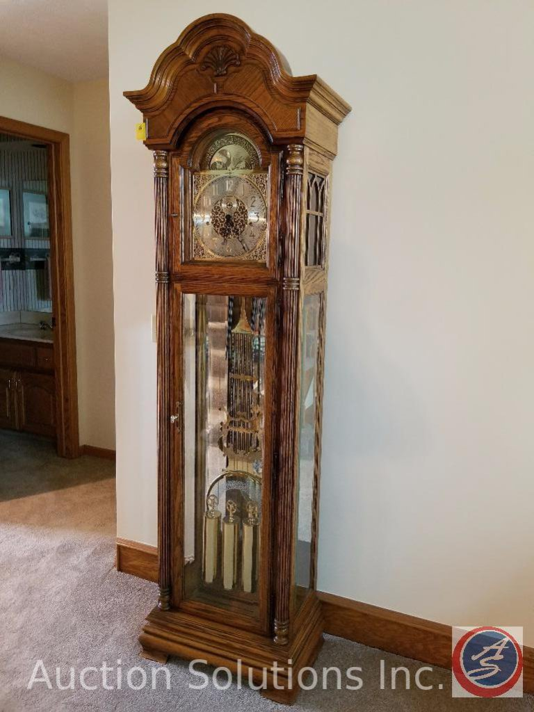 "Howard Miller Grandfather Clock 82"" x 20"" x 1' Deep"
