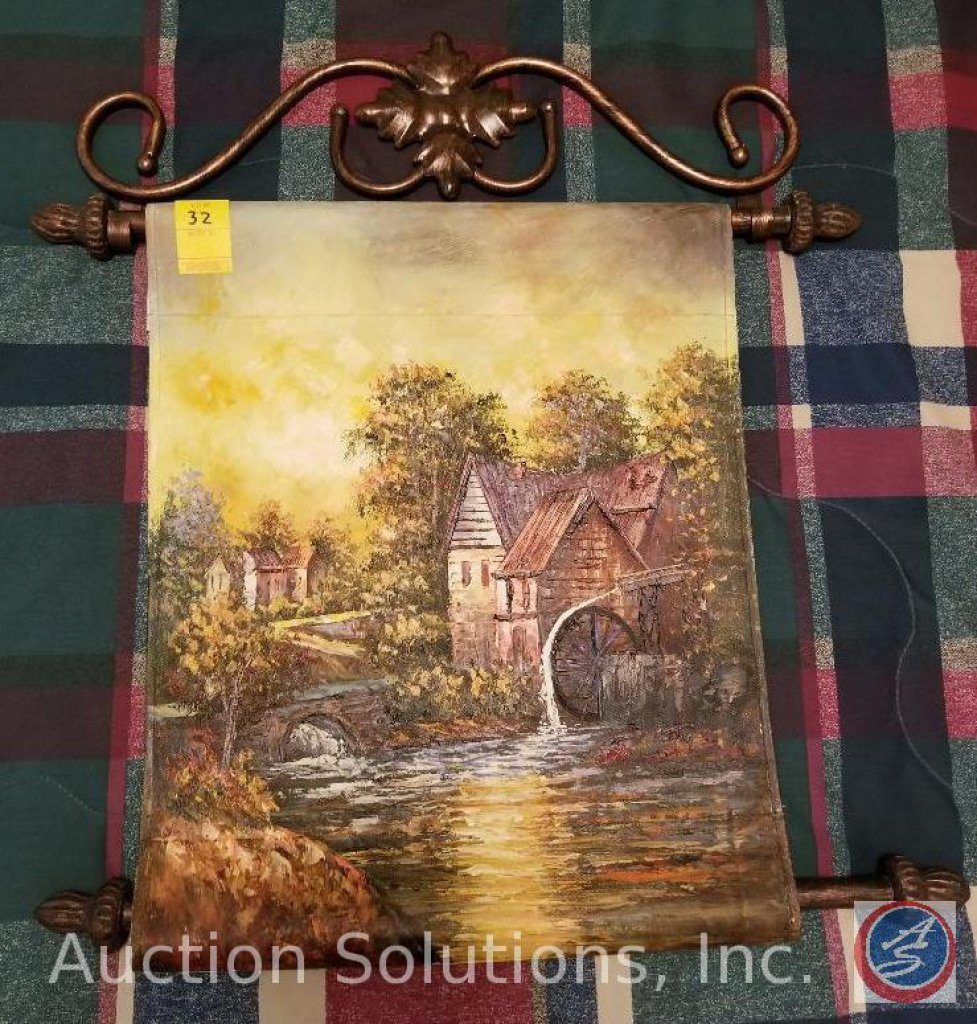"""Decorative Canvas Wall Art Tapestry 25.5"""" Long by 23.5"""" Wide"""