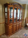 Lighted Wood Buffet Dining Hutch 58