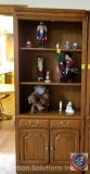 Hooker Brand 2-Door/3-Tier Wooden Bookcase w/ Drawer 34
