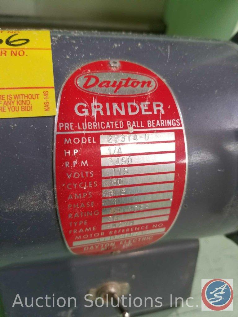 Outstanding Lot Dayton Bench Grinder Model 2Z374 D Buyer Must Remove Machost Co Dining Chair Design Ideas Machostcouk