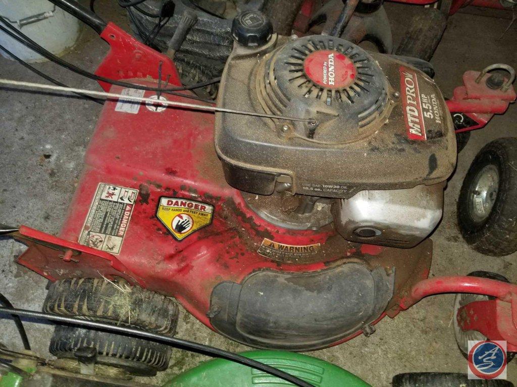Lot Honda Mtd Pro 5 Hp Gas Lawn Mower Proxibid Auctions