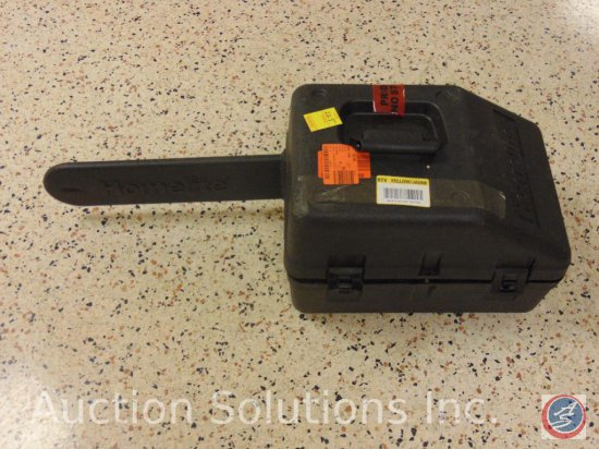 "Homelite 18 inch ""Storm"" chainsaw with case"