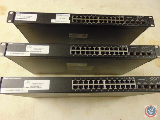 (3) Dell ethernet switches (PowerConnect 5424)