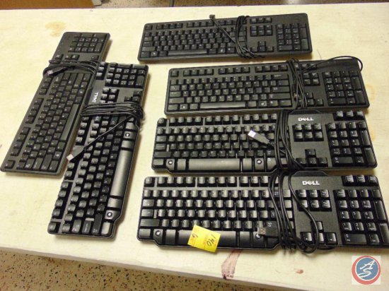 (6) dell computer keyboards