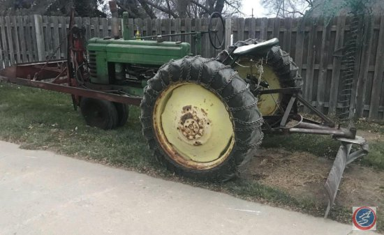 1941 John Deere Model B Ser. #125514 with operator's manual. This tractor is from an estate. It had