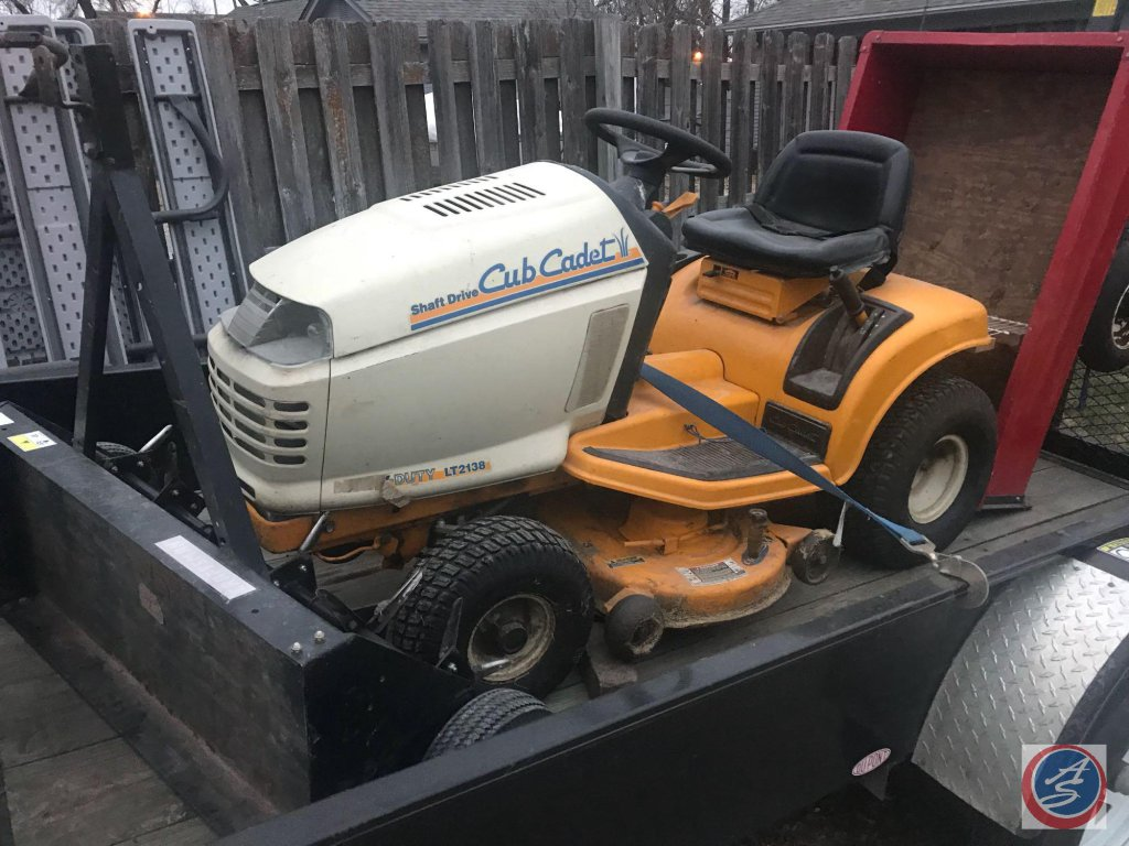 Cub Cadet LT 2138 Garden Tractor. It is currently stored off site in Irvington. Pick up for this