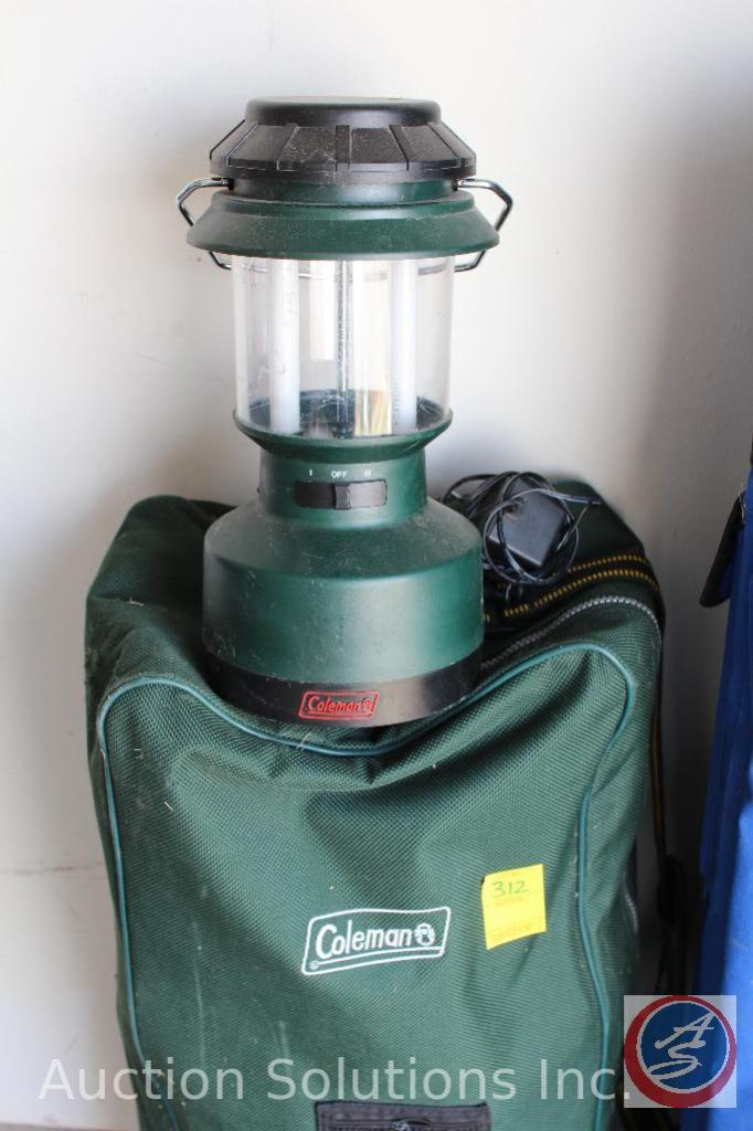 Coleman 2 Seater Folding Chair Model Cq9904 Coleman Electric Lantern Estate Personal Property Personal Property Online Auctions Proxibid