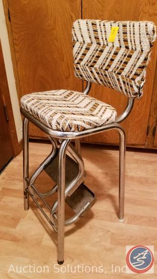 Vintage Kitchen Step Stool Chair | Estate & Personal ...