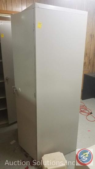 Hon 6 foot metal storage cabinet
