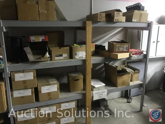 Huge lot of shipping supplies including large rills of bubble wrap, mailing labels, padded