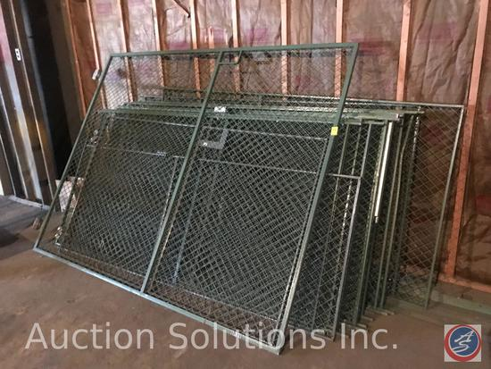 Steel security cage panels and sliding door.(15 panels)