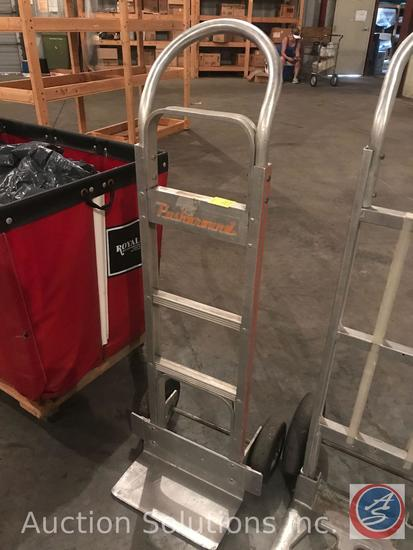 Push around aluminum 2 wheel hand truck.
