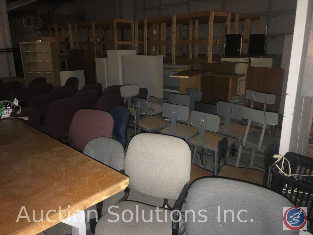 Salvage rights to West end of production room including steel shelving, dozens of office and