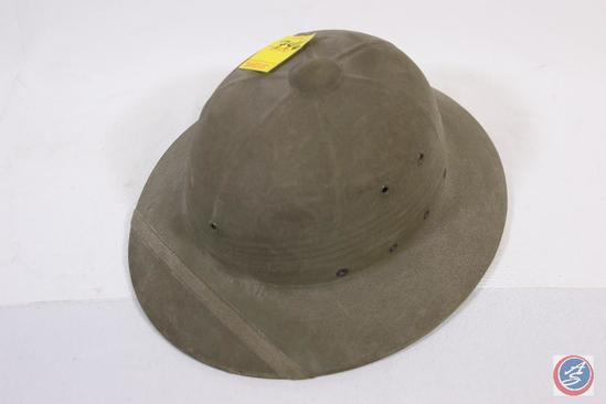 f3ddd86628684 Pith Helmet International hat company January 1948 marked with sailor s  name  Guggenmos US Navy