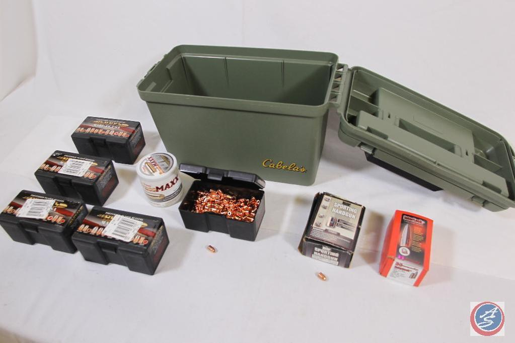 Lot: Large plastic ammo can containing
