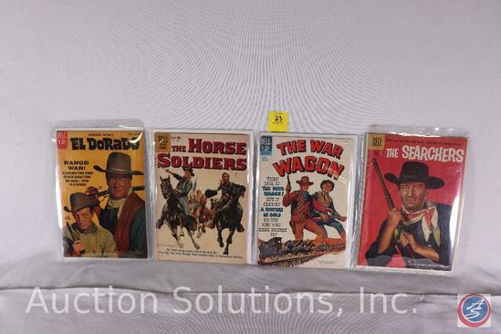 (4) Movie posters; El Dorado, The Horse Soldiers, The War Wagon, The Searchers