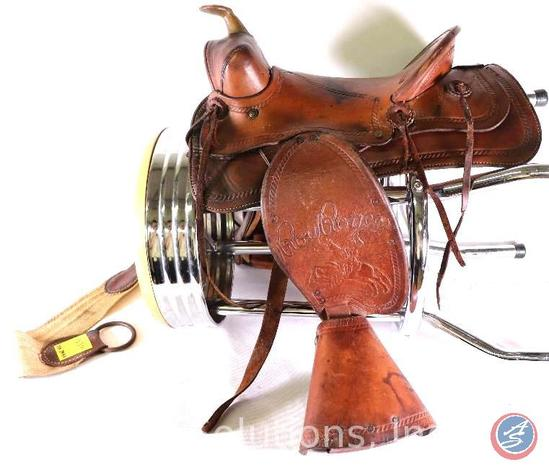 1950's Roy Roger's Child's Leather Pony Saddle {{COMPLETE}}