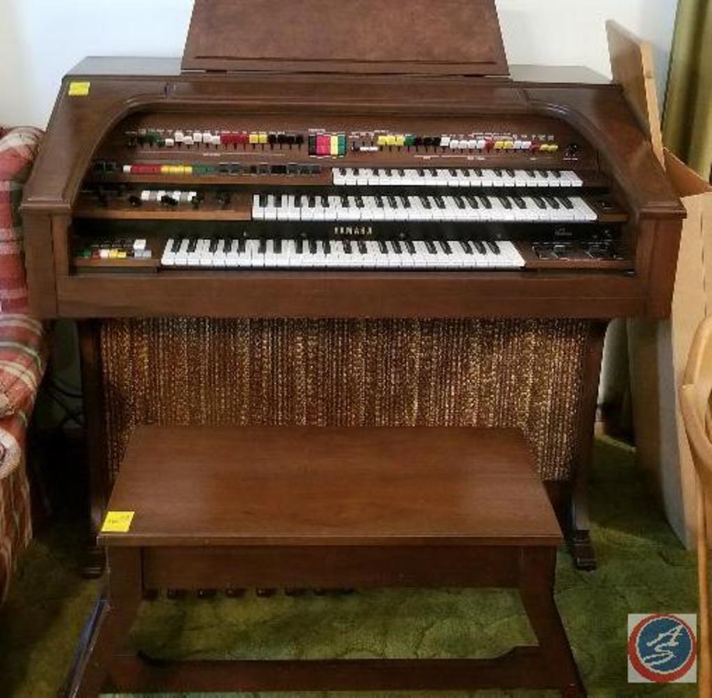 Yamaha electric organ with ben... Auctions Online | Proxibid