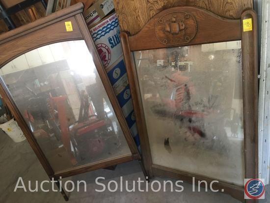 (2) Wooden framed dresser mirrors {{NO DRESSER INCLUDED}}